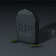 Low Poly GraveStone - 3DOcean Item for Sale