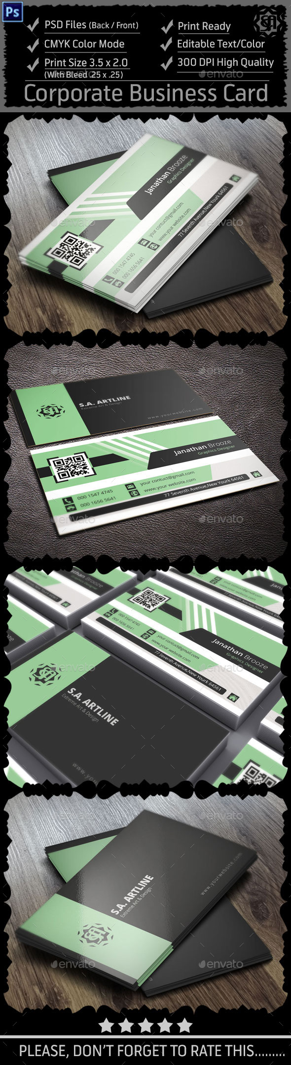 GraphicRiver Creative Corporate Business Card 8987135