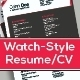 Resume Template: Watch-style, 4 Pages, 2 Design - GraphicRiver Item for Sale