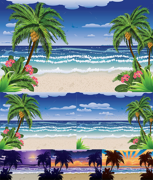 GraphicRiver Beach and Tropical Sea 8987319