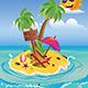 Cartoon Palm Island - GraphicRiver Item for Sale