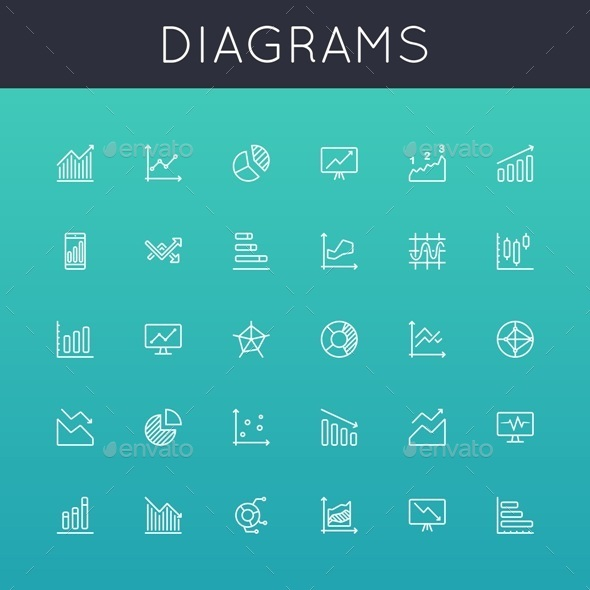 GraphicRiver Vector Diagrams Line Icons 8987401