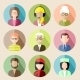 Set of Circle Flat Icons with People.  - GraphicRiver Item for Sale