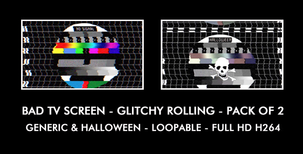 Bad TV Screen Generic & Halloween