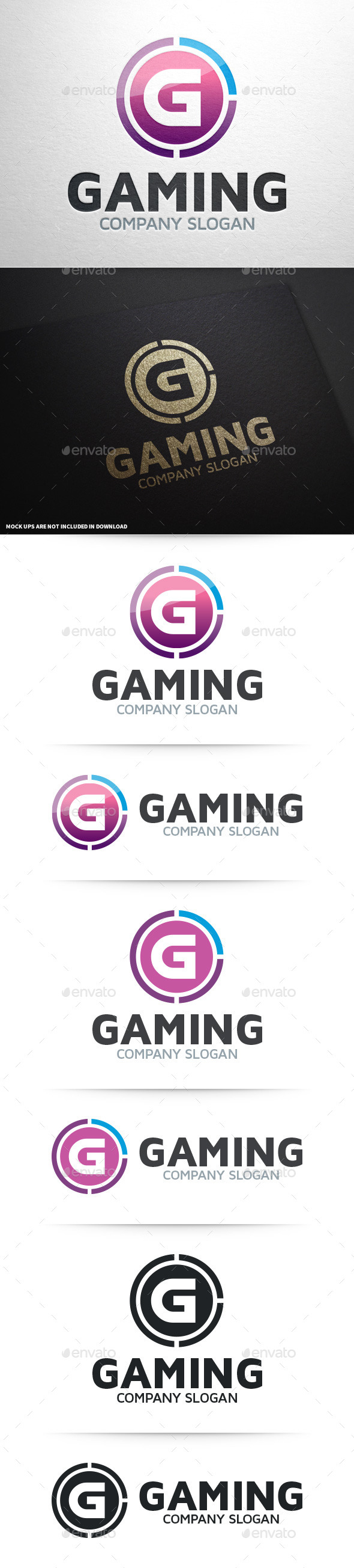 GraphicRiver Gaming Letter G Logo 8987754