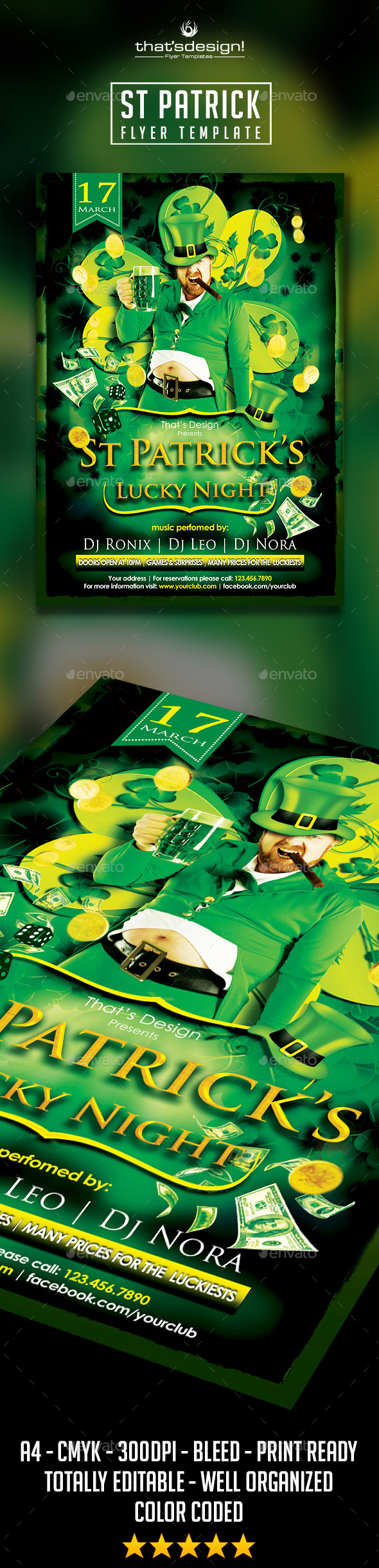 St Patrick's Flyer Template - Print Templates
