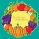 Autumn Background with Vegetables and Fruits. - GraphicRiver Item for Sale