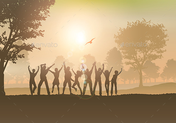 GraphicRiver People Dancing in the Countryside 8987871