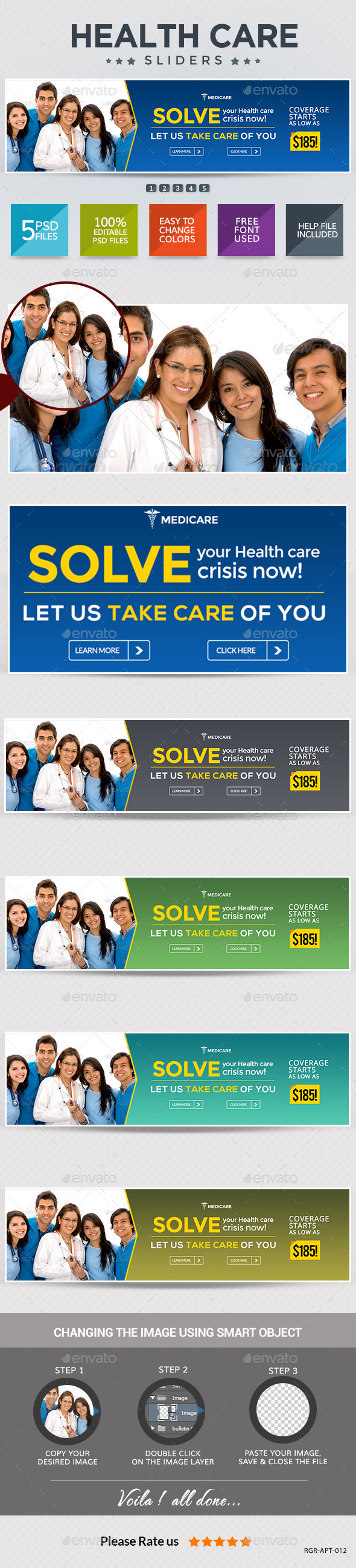 GraphicRiver Healthcare Sliders 8987921