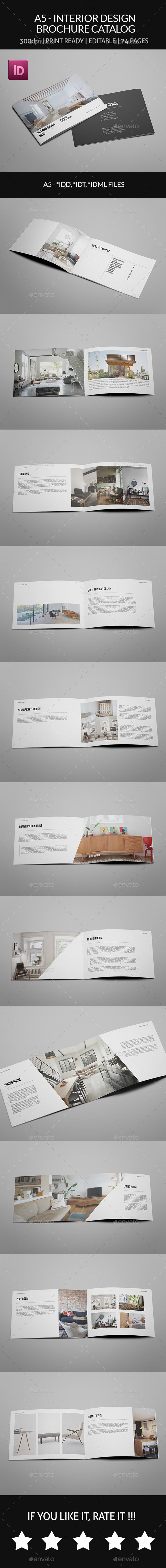GraphicRiver A5 Interior Design Brochure Catalog 8987934