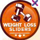 Weight Loss and Fitness Sliders - GraphicRiver Item for Sale