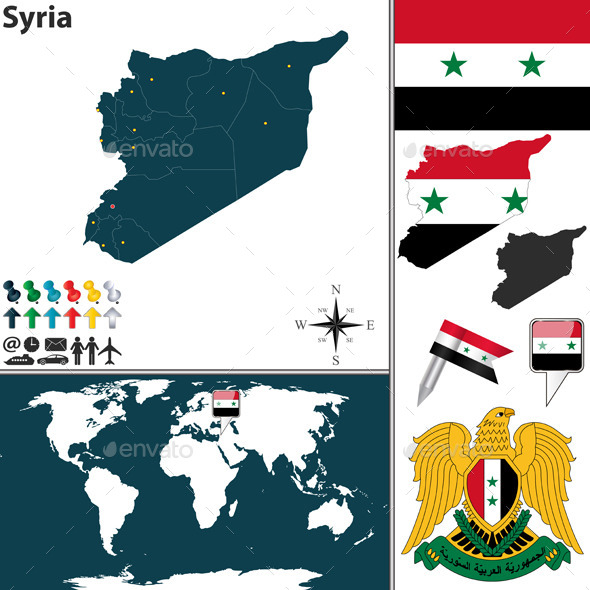 GraphicRiver Map of Syria 8987975