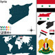 Map of Syria - GraphicRiver Item for Sale