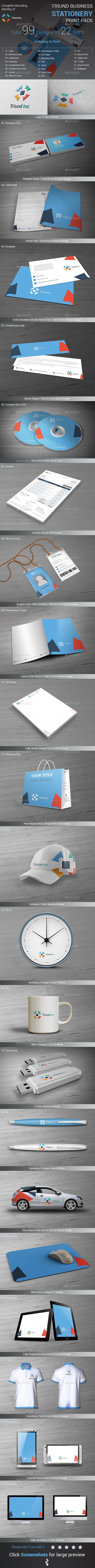 GraphicRiver Triund Business Stationery Print Pack 8960089