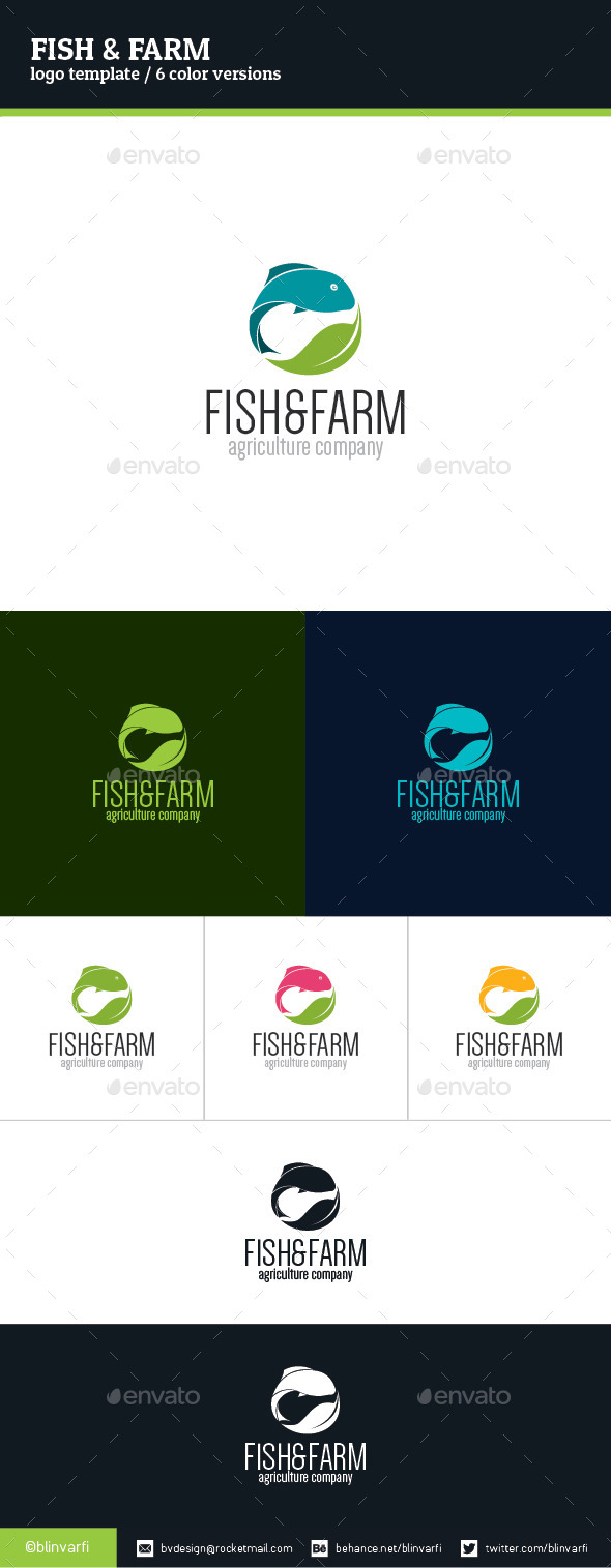 GraphicRiver Fish & Farm Logo Template 8983161