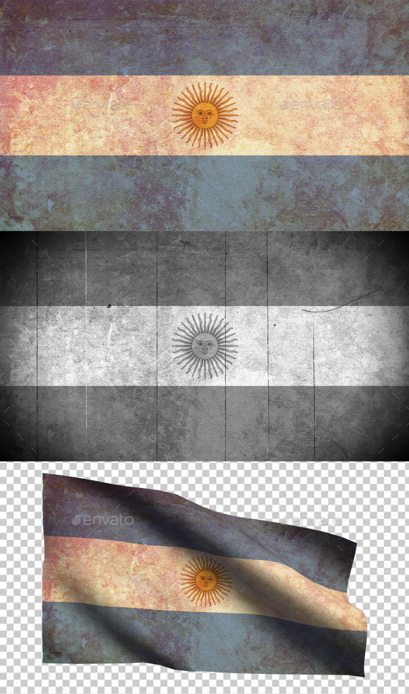 GraphicRiver Argentina Flag Grunge and Retro 8988031