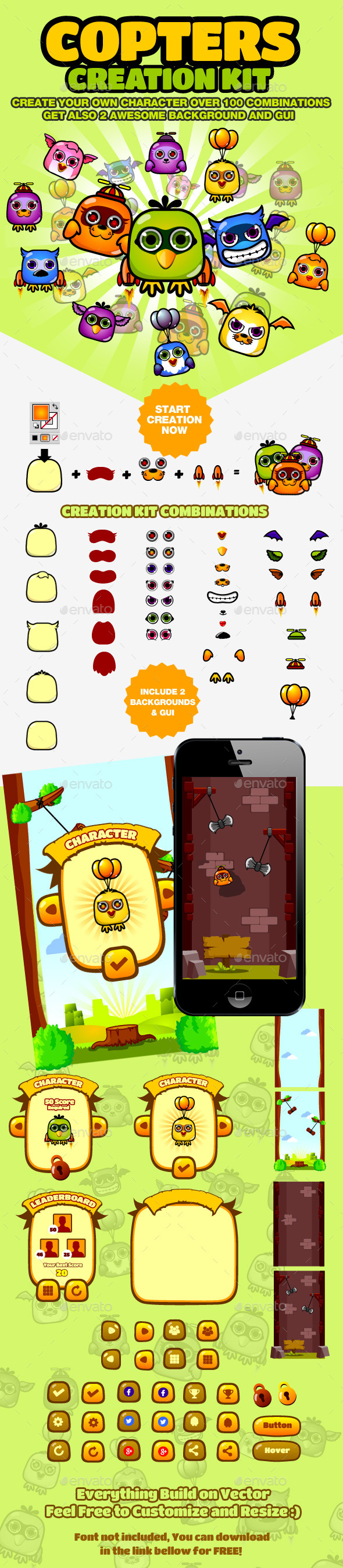 GraphicRiver Copters Creation and Game Kit 8961705