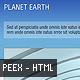 Planet Earth: The Sky - HTML Portfolio Template