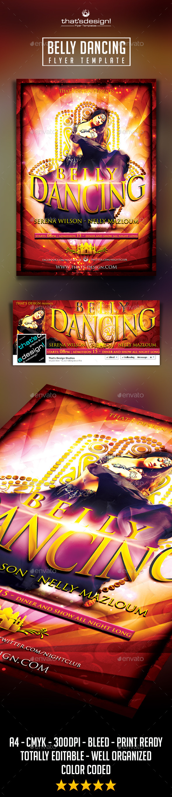 Belly Dancing Flyer Template - Clubs & Parties Events