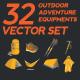 Set of Outdoor Adventure Equipment - GraphicRiver Item for Sale