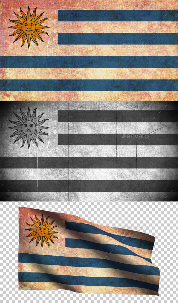 GraphicRiver Uruguay Flag Grunge and Retro 8988185