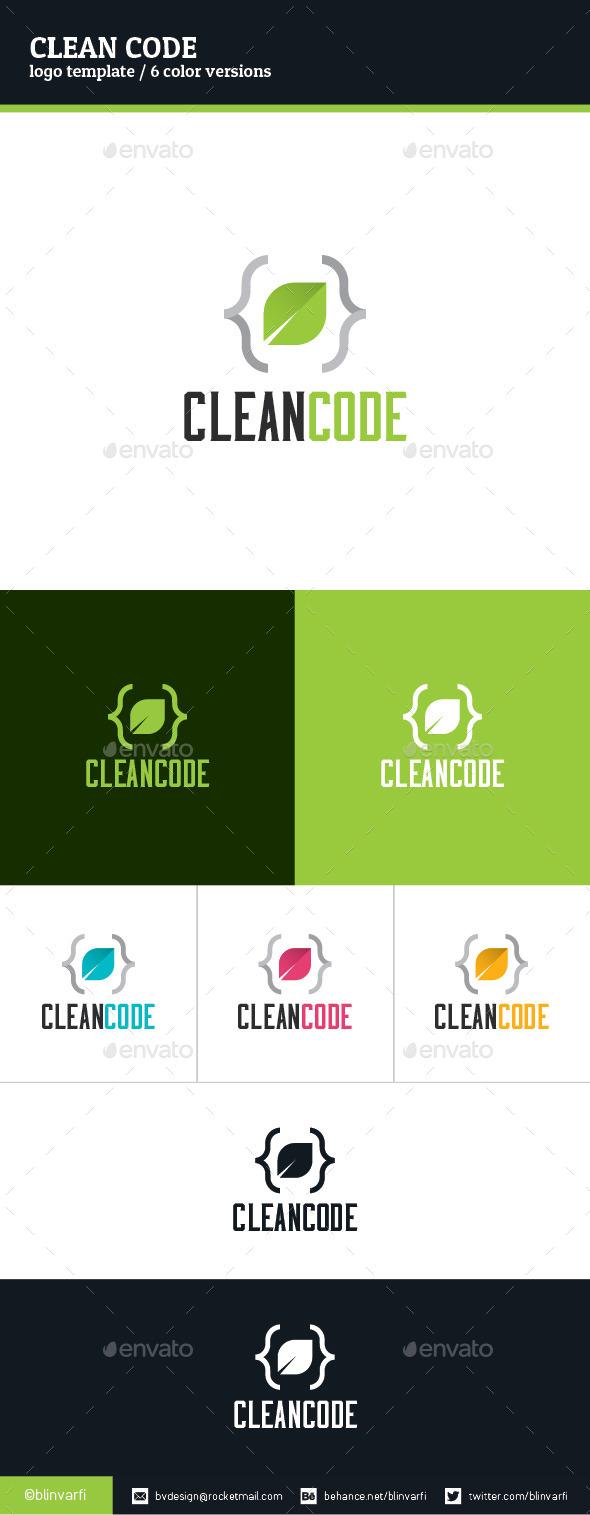 GraphicRiver Clean Code Logo Template 8988195