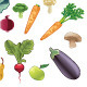 Fruits and Vegetables Set - GraphicRiver Item for Sale