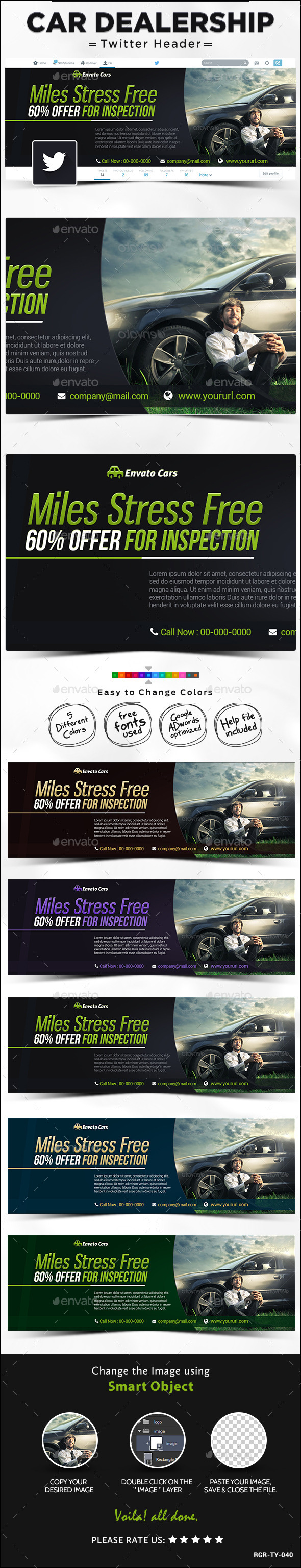 GraphicRiver Twitter Header for Car Sales 8988223