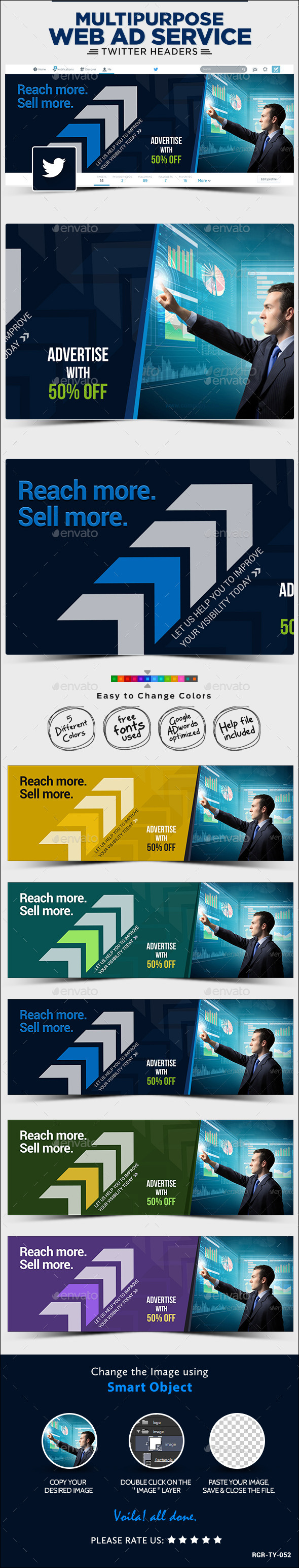 GraphicRiver Corporate Twitter Header 8988241