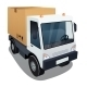 Delivery Truck with a Big Box - GraphicRiver Item for Sale