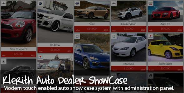 CodeCanyon Klerith Auto dealer showcase 8988391