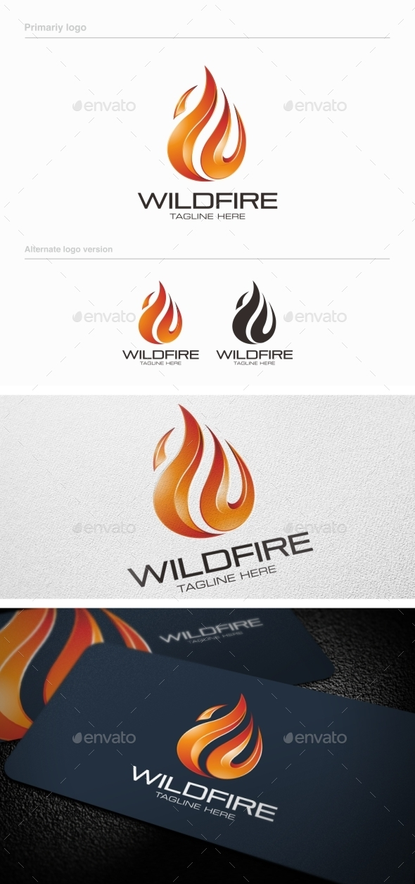 GraphicRiver Wildfire Logo Template 8988406