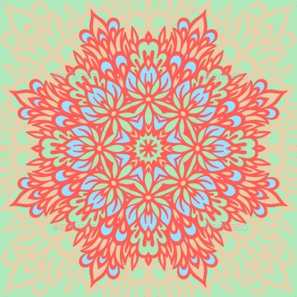 GraphicRiver Flower Mandala Abstract Background 8988441