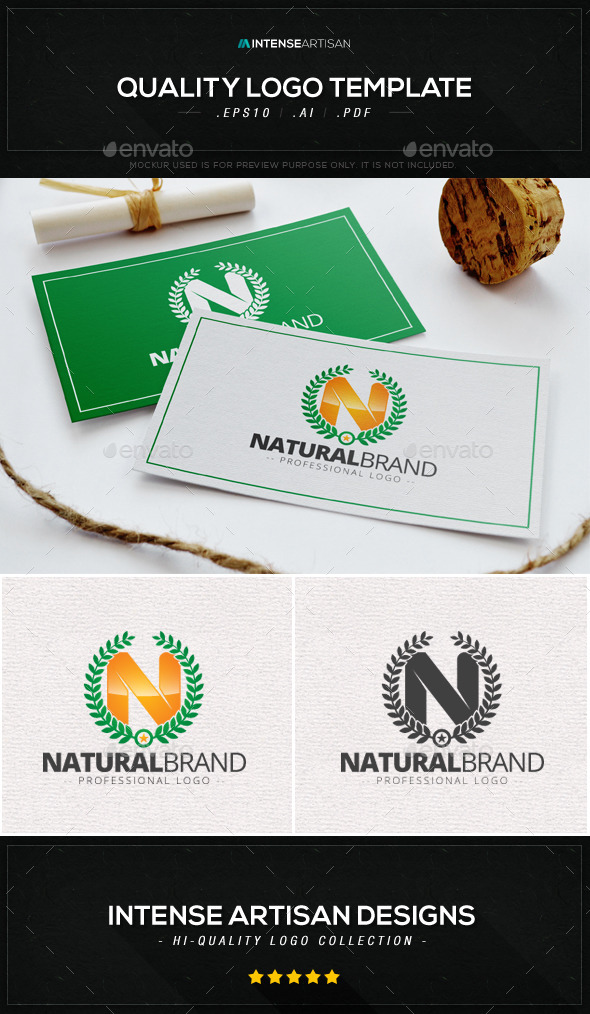 GraphicRiver Natural Brand Logo Template 8988506