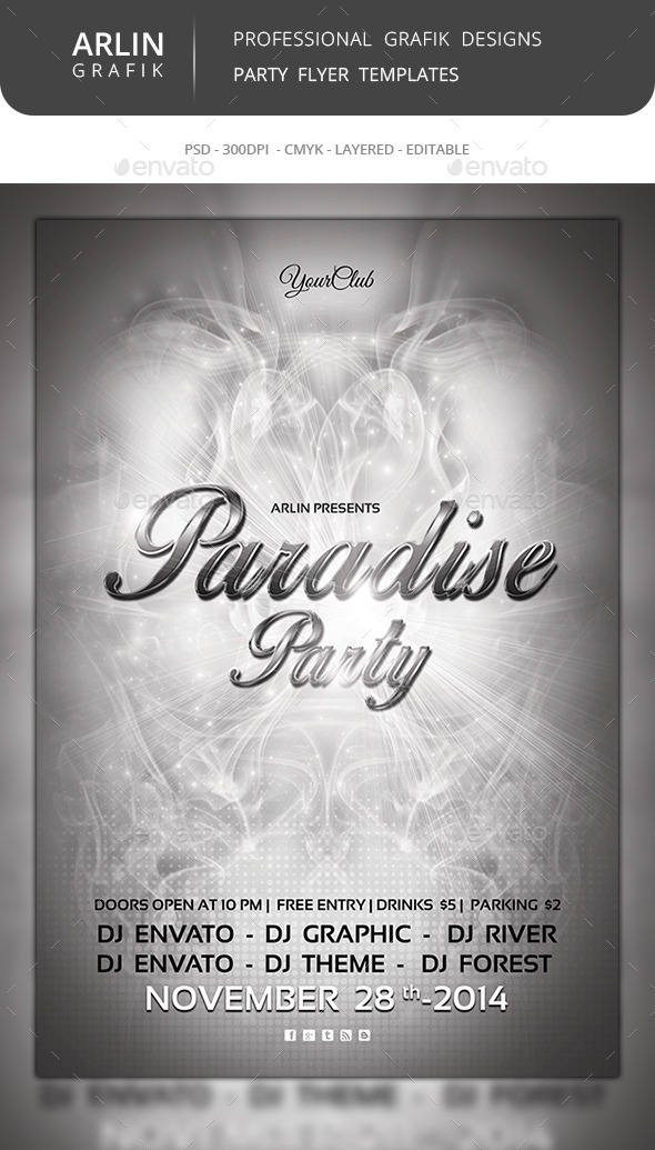 GraphicRiver Paradise Flyer Template 8988516