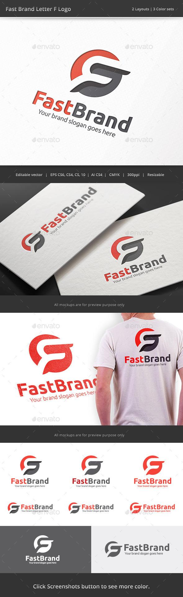 GraphicRiver Fast Brand Letter F Logo 8988631
