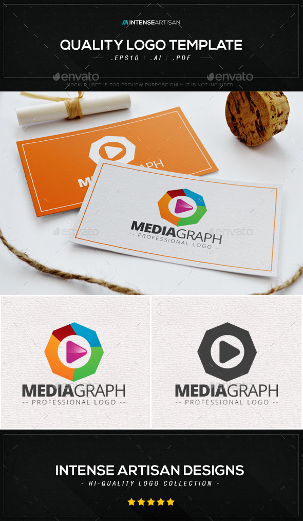 GraphicRiver Media Graph Logo Template 8988730