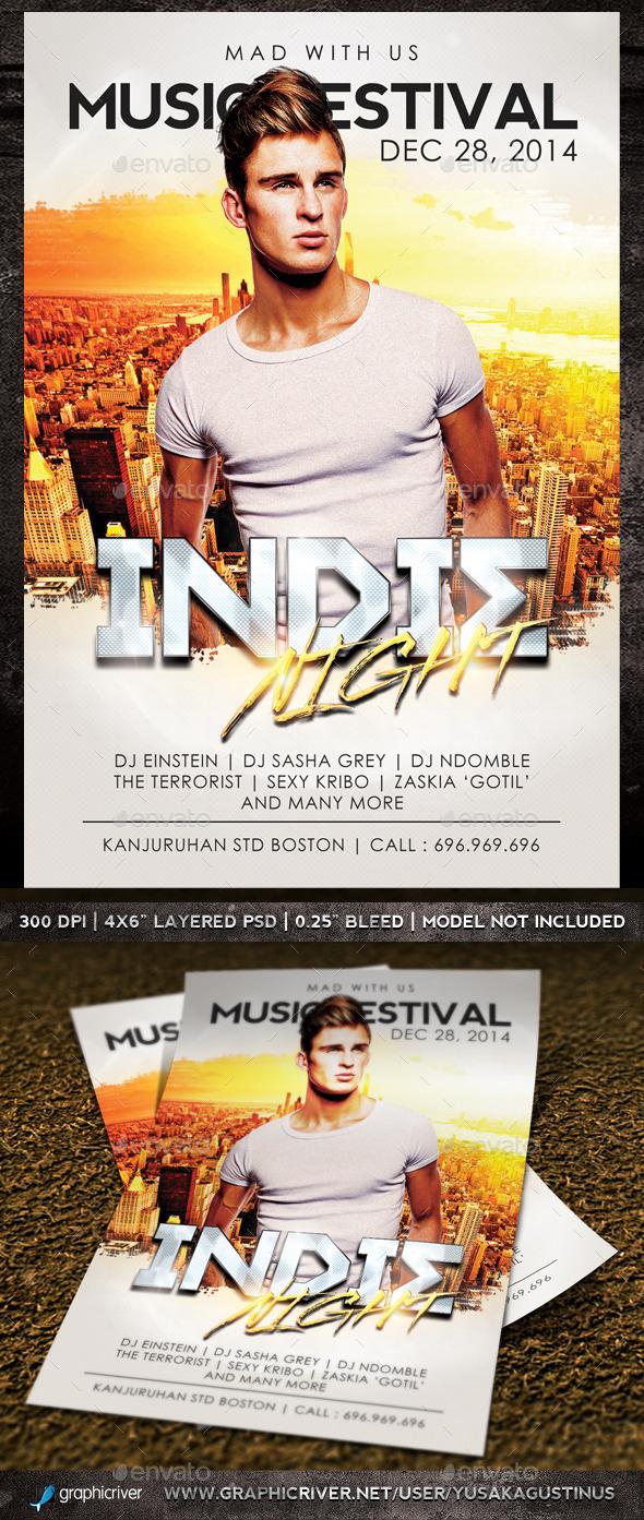 GraphicRiver Indie Night Flyer 8988759