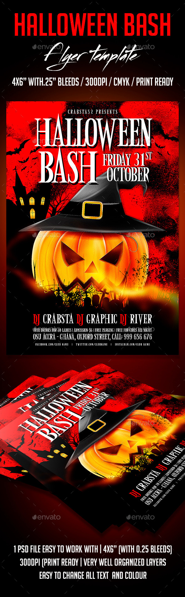 GraphicRiver Halloween Bash Flyer Template 8988761