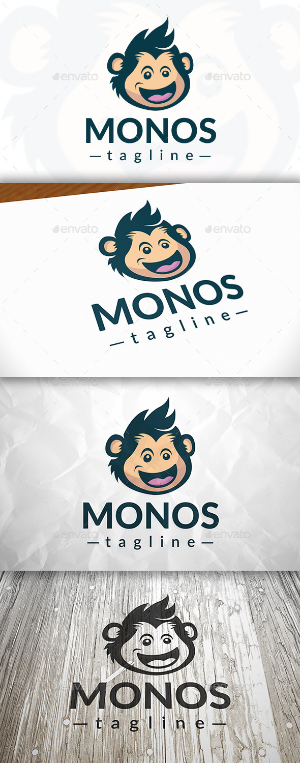 GraphicRiver Happy Monkey Logo 8988762