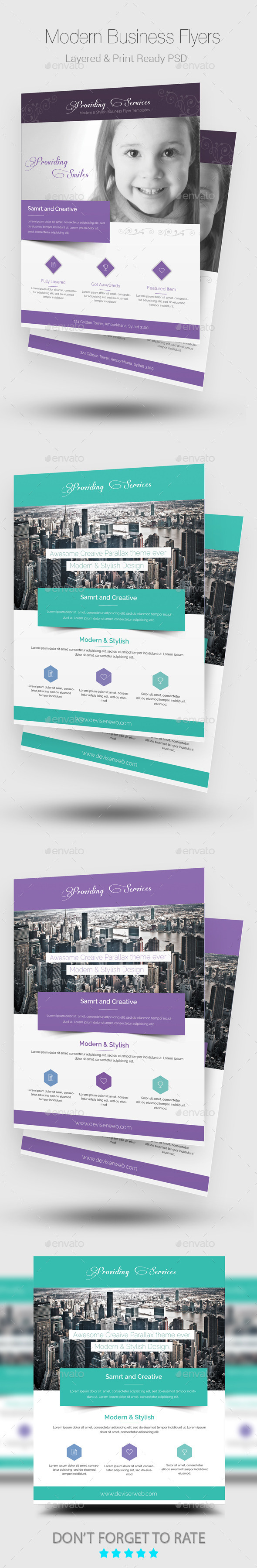 GraphicRiver Elegant Business Flyer Templates 8988945