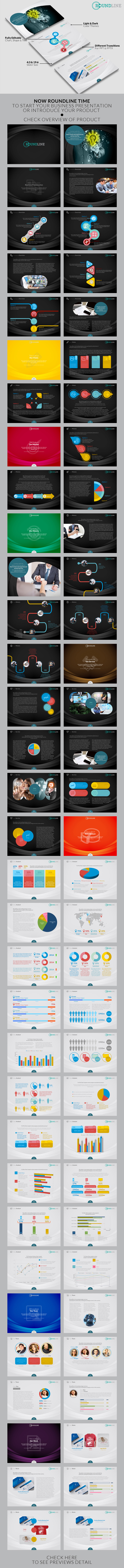 GraphicRiver Roundline Powerpoint Template 8988966