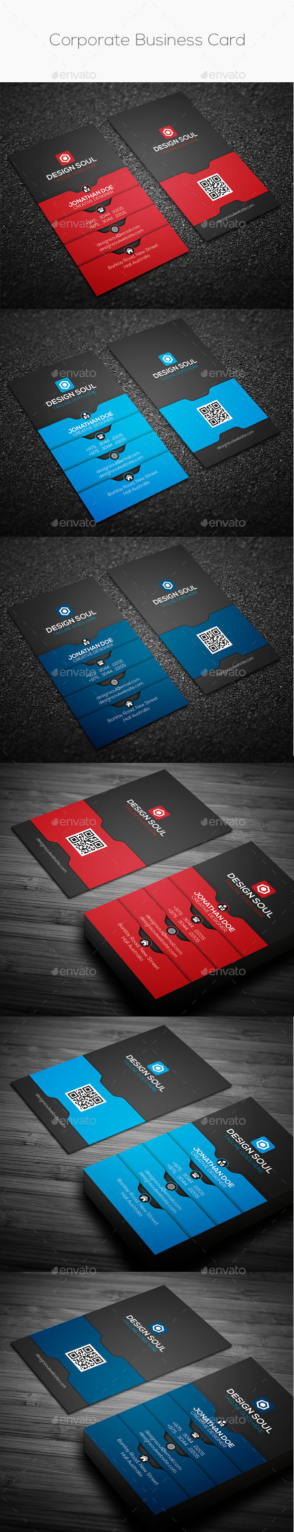 GraphicRiver Corporate Business Card 8988975