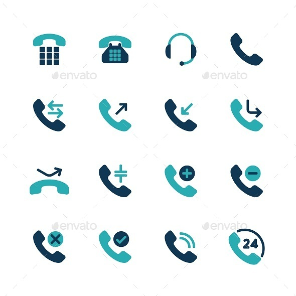 GraphicRiver Phone Flat Icons 8988984