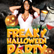 Freaky Halloween Party Flyer Template - GraphicRiver Item for Sale