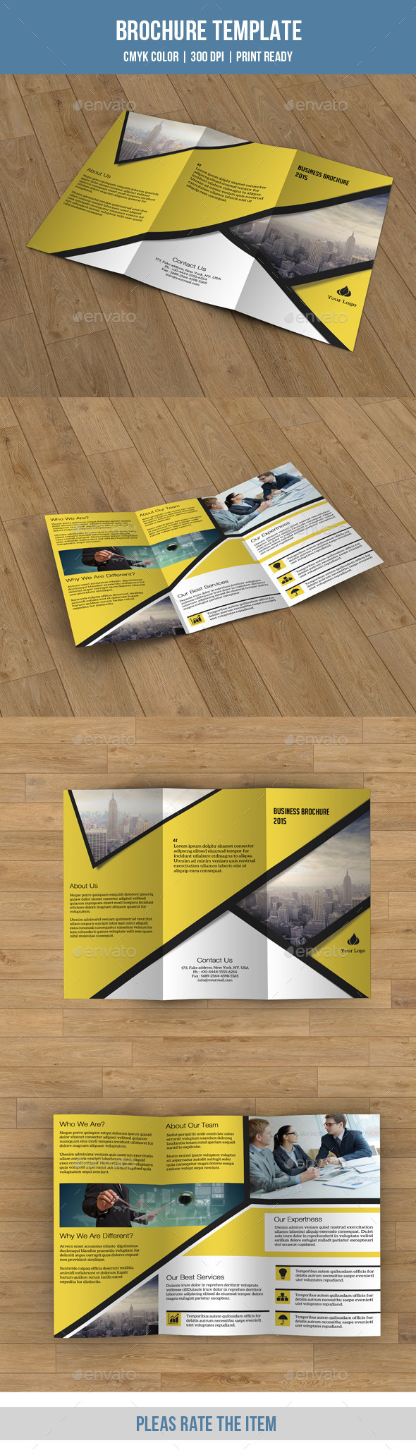 GraphicRiver Trifold Business Brochure-V70 8989063