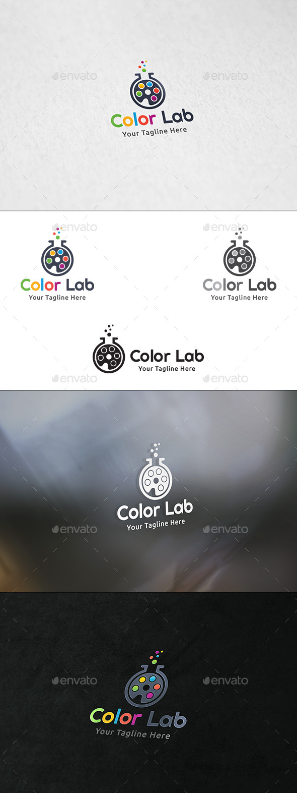 GraphicRiver Color Lab Logo Template 8989126