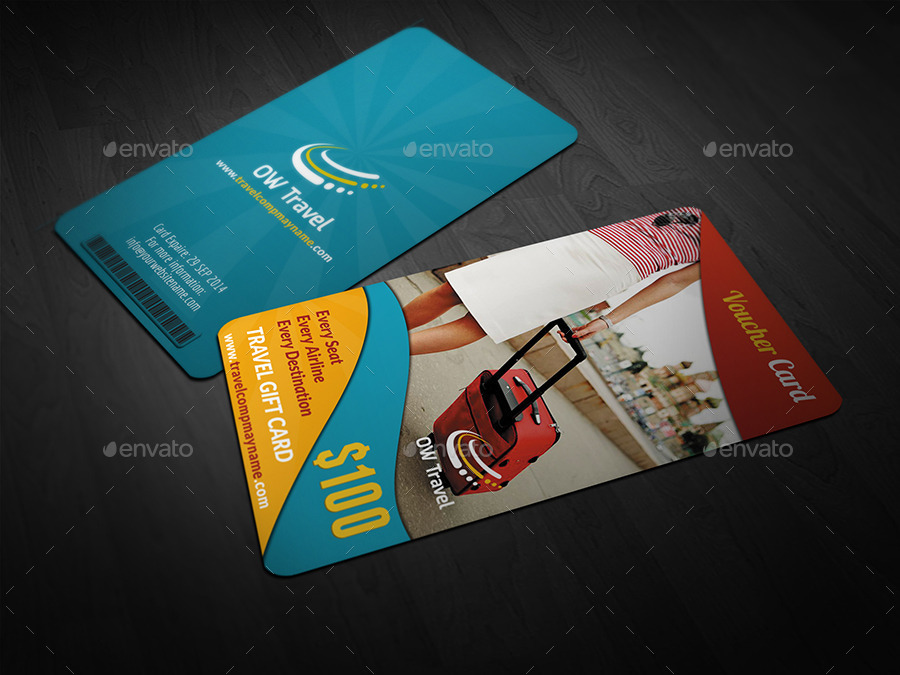 Travel Gift Voucher Card Template Vol13 by OWPictures – Voucher Card Template