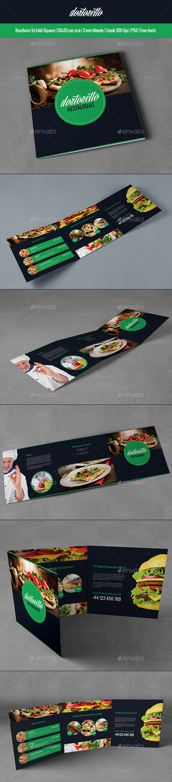 GraphicRiver Dortoretto Brochure Tri-Fold Square 8989171