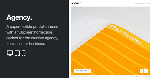 ThemeForest Agency Fullscreen Minimal WordPress Portfolio 8942235